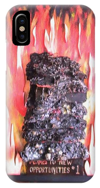 Flames To New Opportunities #1 Phone Case by Tanna Lee M Wells