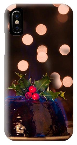 Blue Berry iPhone Case - Flaming Christmas Pudding by Amanda Elwell