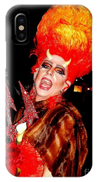 Halloween Flamming Devilish Deva Costume In The French Quarter Of New Orleans IPhone Case