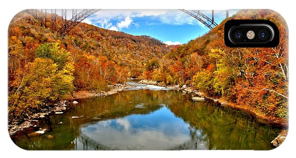 Flaming Fall Foliage At New River Gorge IPhone Case