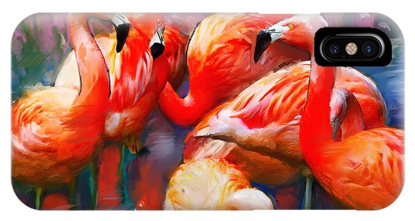 Flaming Flamingos IPhone Case