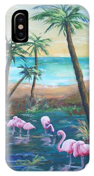 Flamingo Beach IPhone Case