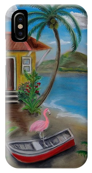 Flamingo Beach IPhone Case