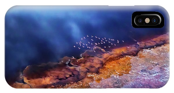 Purple iPhone Case - Flamingo Fly Over The Lake by Phillip Chang