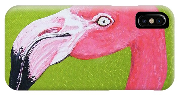 Flamingo Head IPhone Case