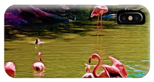Flamingo Party IPhone Case
