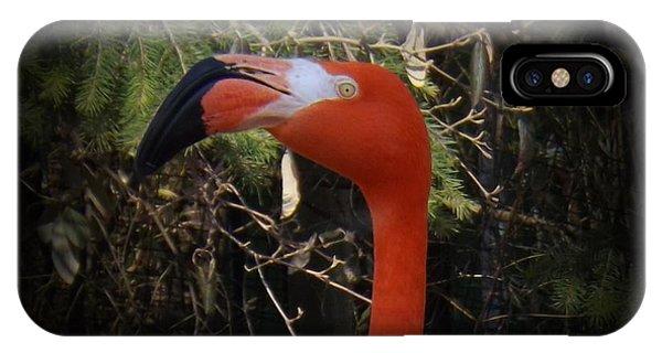 Flamingo Profile IPhone Case