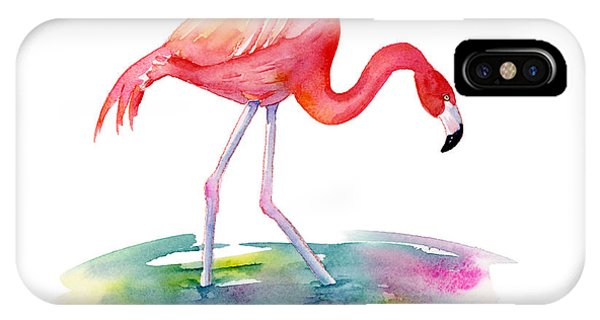 Hot iPhone Case - Flamingo Step by Amy Kirkpatrick