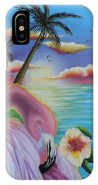 Flamingo Sunset IPhone Case
