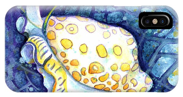 IPhone Case featuring the painting Flamingo Tongue by Ashley Kujan