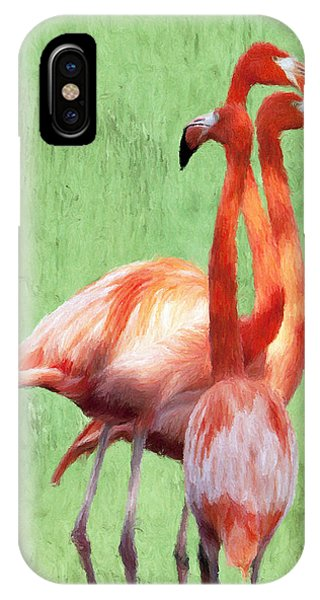 Flamingo Twist IPhone Case
