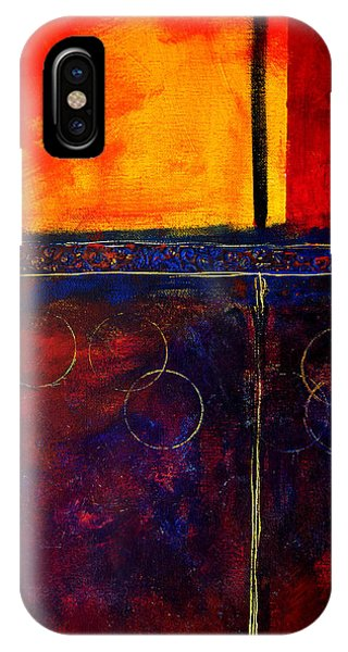 Rectangles iPhone X Case - Flash Abstract Painting by Nancy Merkle