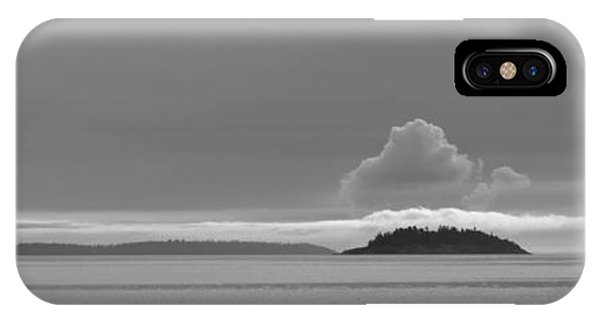 Flat Top Island Bw IPhone Case