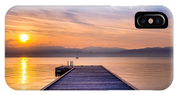 Flathead Lake Sunrise IPhone Case
