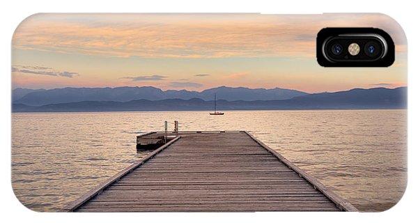 Flathead Lake Sunset IPhone Case