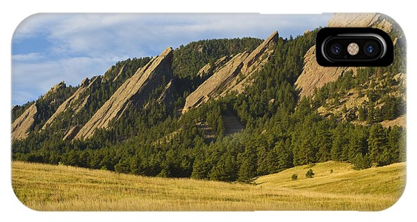 Flatiron Morning Light Boulder Colorado IPhone Case