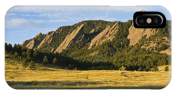 Flatirons From Chautauqua Park IPhone Case