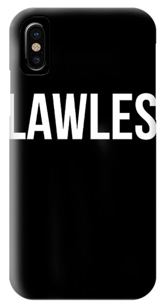 Motivational iPhone Case - Flawless Poster by Naxart Studio