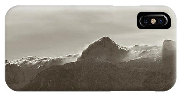Susann Serfezi iPhone Case - flawy mount peak I by AugenWerk Susann Serfezi
