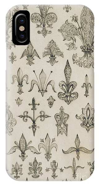 Fleur De Lys Designs From Every Age And From All Around The World IPhone Case