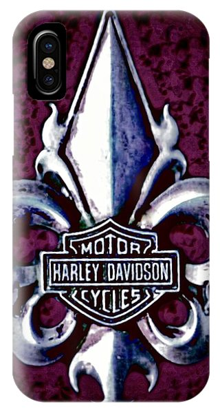 Fleurs De Lys With Harley Davidson Logo IPhone Case