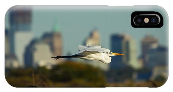 Flight Of The Great Egret IPhone Case