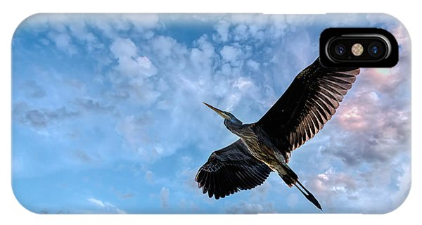 IPhone Case featuring the photograph Flight Of The Heron by Bob Orsillo