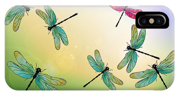 Insect iPhone Case - Flight Of The Scarlet Lady by Jenny Armitage