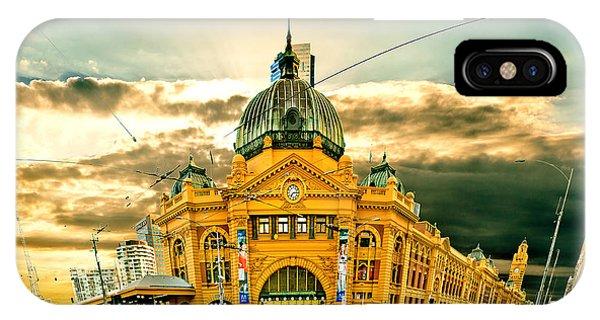 Cart iPhone Case - Flinders St Station by Az Jackson
