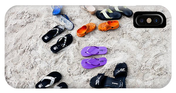 Flip Flops On The Beach IPhone Case