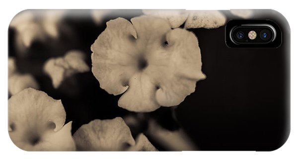 Close Focus Floral iPhone Case - Floating Into The Dark by Marco Oliveira