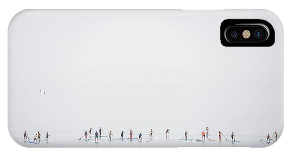 Crowd iPhone Case - Floating Mirage by Joshua Raif