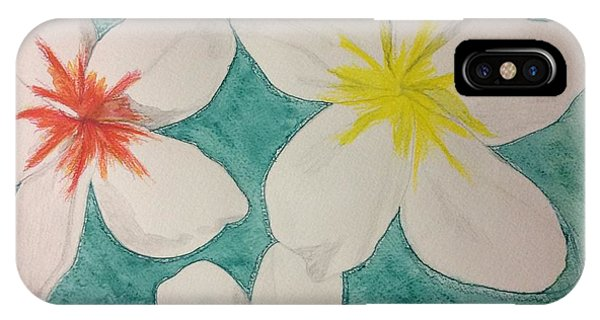 Floating Plumeria IPhone Case