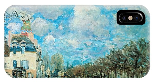 Neighborhood iPhone Case - Flood At Port-marly by Alfred Sisley