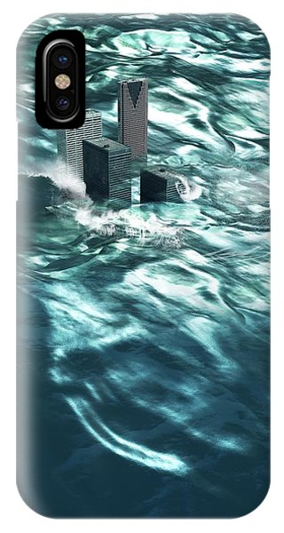 Drown iPhone Case - Flooding by Victor Habbick Visions/science Photo Library