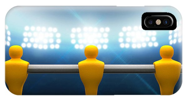 Playing iPhone Case - Floodlit Stadium With Foosball Players by Allan Swart