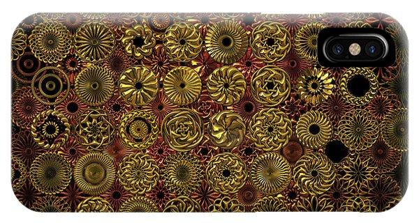 Flora Spiro Metal Quilt IPhone Case