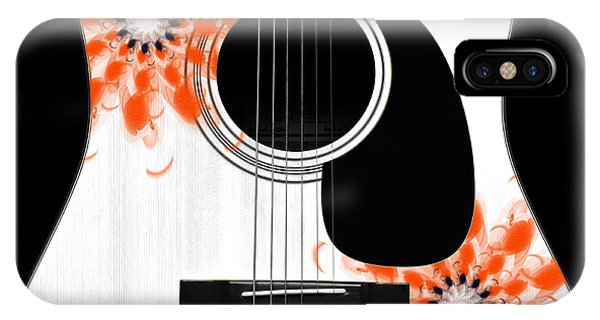 Floral Abstract Guitar 32 IPhone Case