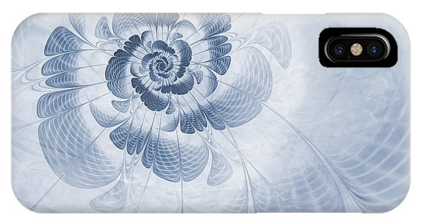 Floral Impression Cyanotype IPhone Case
