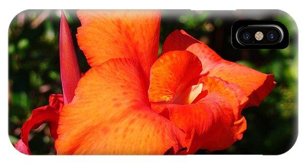 Floral Orange Phone Case by Van Ness