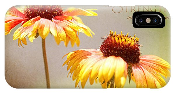 Floral Sunshine With Message IPhone Case