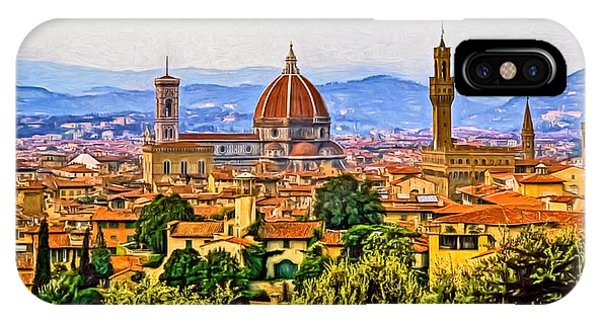 Florence Panorama - Paint IPhone Case