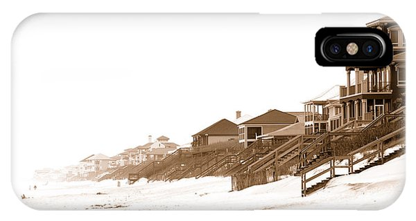 Florida Beach Sepia Print IPhone Case