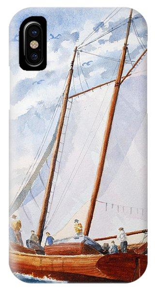 Florida Catboat At Sea IPhone Case