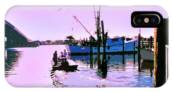 Florida Fishing Dock IPhone Case