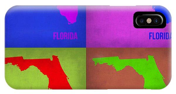 Florida iPhone Case - Florida Pop Art Map 1 by Naxart Studio