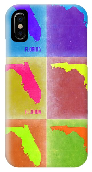 Florida iPhone Case - Florida Pop Art Map 2 by Naxart Studio
