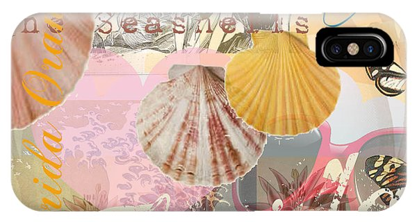 Florida Seashells Collage IPhone Case