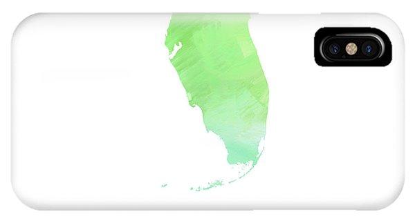 Florida - Sunshine State - Map - State Phrase - Geology IPhone Case