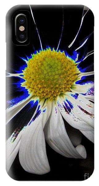 Art. White-black-yellow Flower 2c10  IPhone Case